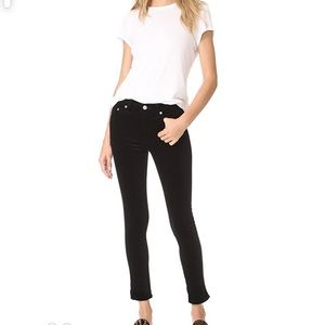 Rag & Bone High Rise Ankle Skinny Velvet Jeans
